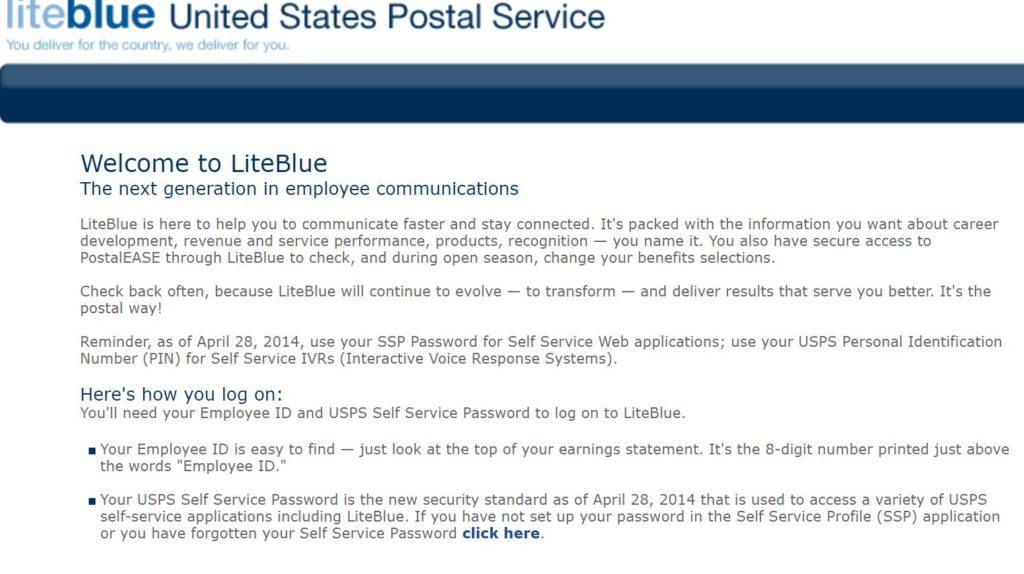 USPS Liteblue Employee Login